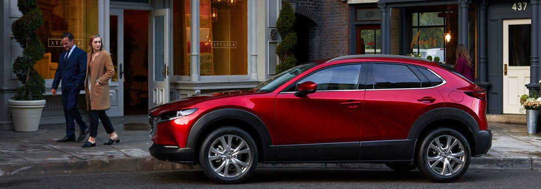 2020 Mazda CX-30 parked in front of a building