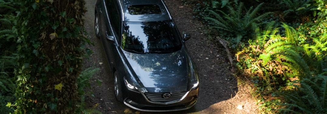 2020 Mazda CX-9 parked on a rural trail