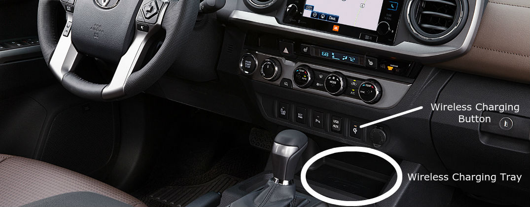 ... How To Use The 2016 Toyota Tacoma Qi Wireless Charging Feature At J.  Pauley Toyota