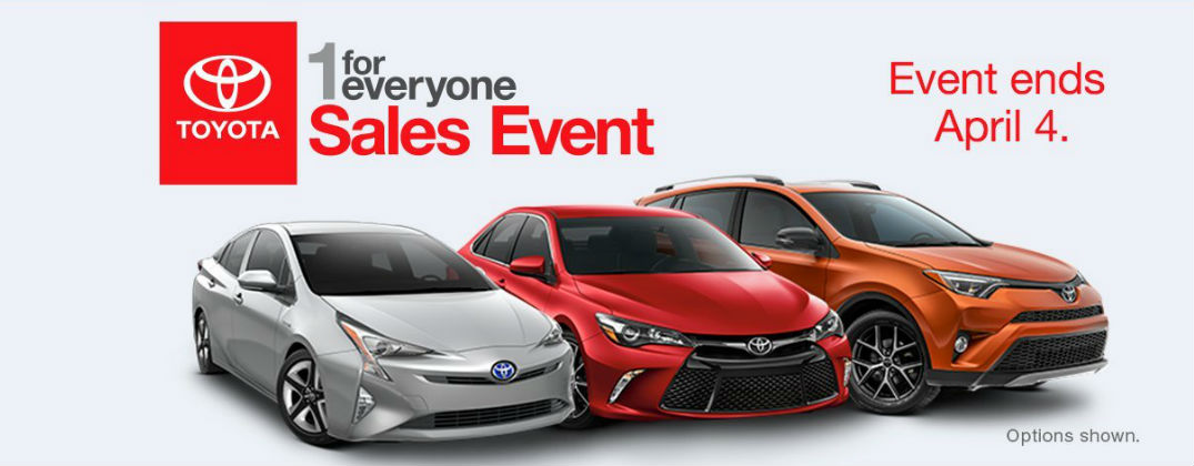 ... 2016 Toyota 1 For Everyone Sales Event Fort Smith AR At J. Pauley Toyota