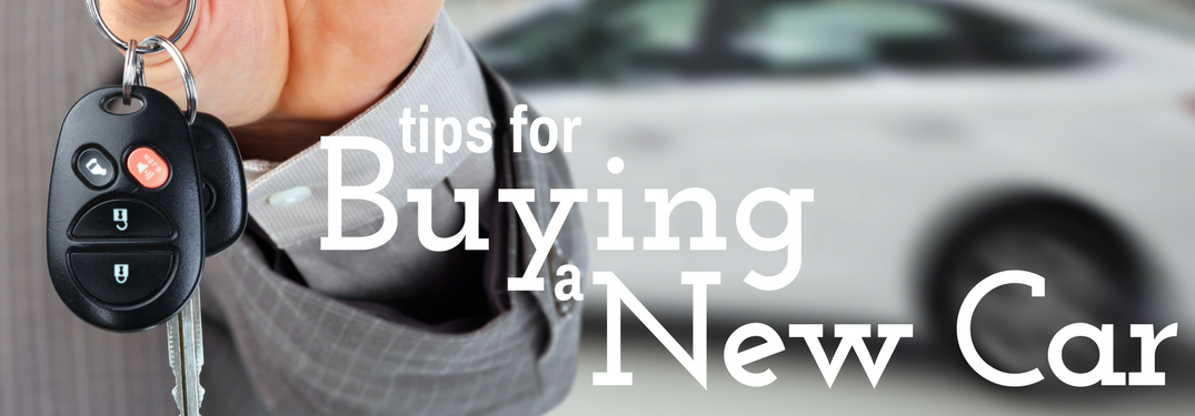 tips for Buying a New Car next to new car keys