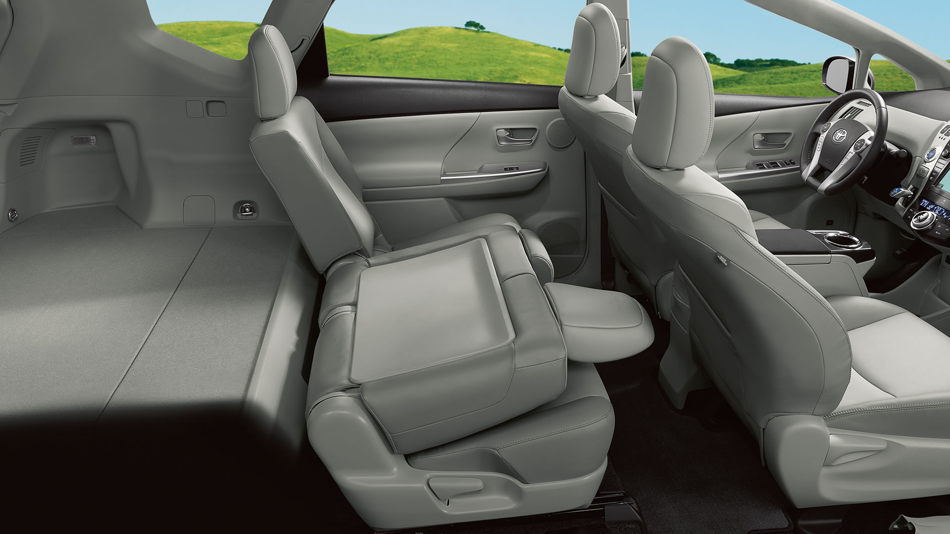 2014 toyota prius v interior hesser toyota. Black Bedroom Furniture Sets. Home Design Ideas