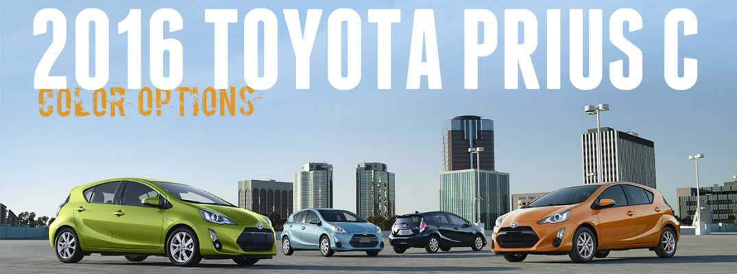 2016 Toyota Prius c color options