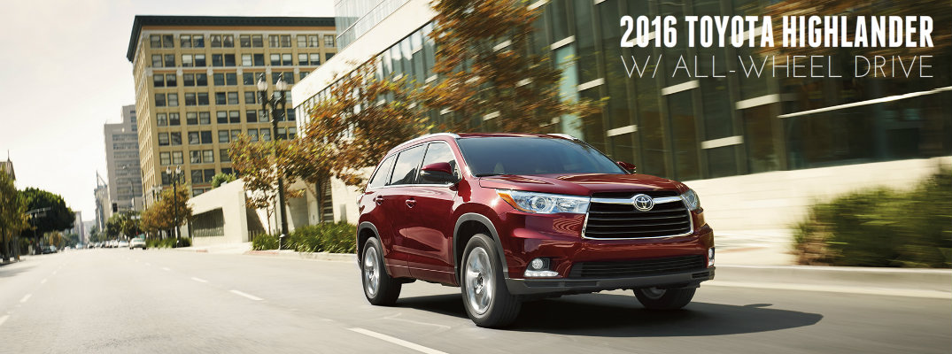 Does the 2016 Toyota Highlander have all-wheel drive