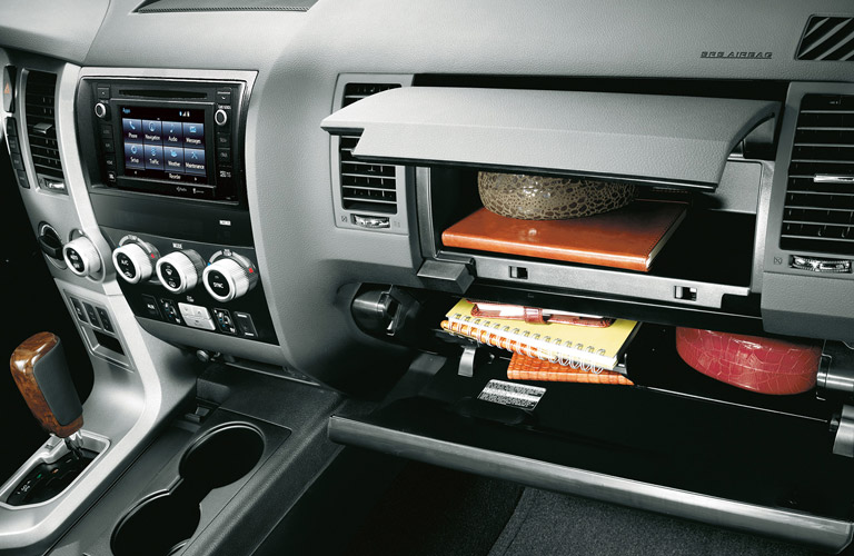 2016 toyota sequoia interior storage