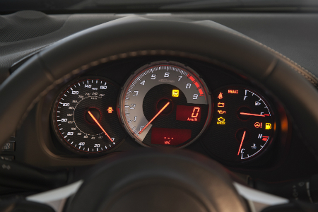 dashboard and gauges of 2018 toyota 86