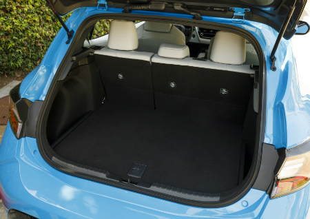how much cargo space is in the 2019 toyota corolla hatchback. Black Bedroom Furniture Sets. Home Design Ideas