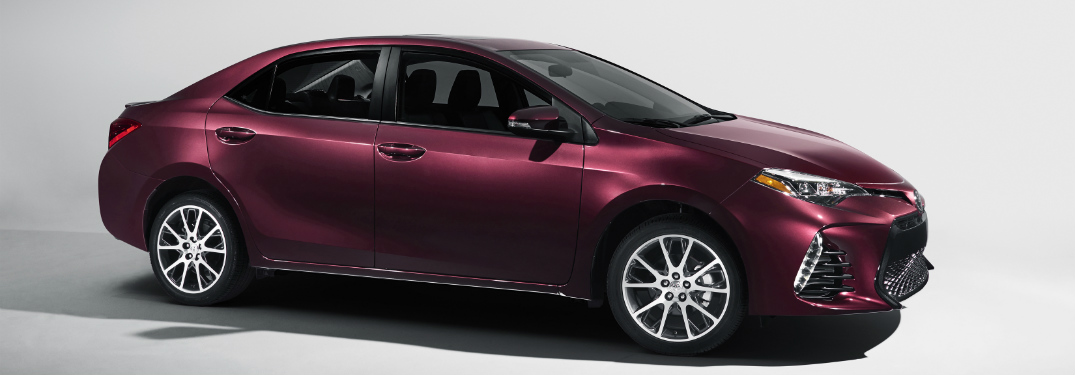 side view of purple 2019 toyota corolla