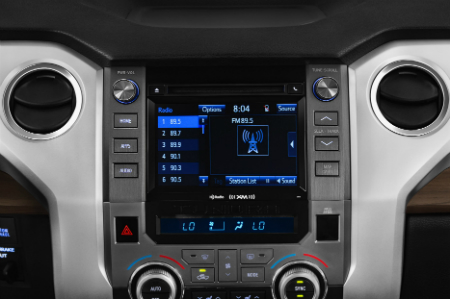 center infotainment system of 2019 toyota tundra