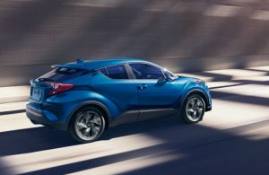 2019 Toyota C-HR driving on a road