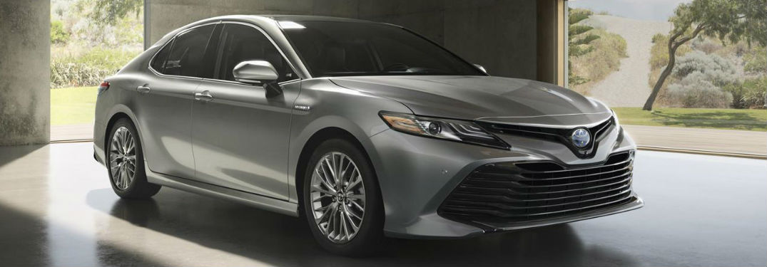 2019 Toyota Camry front and side profile