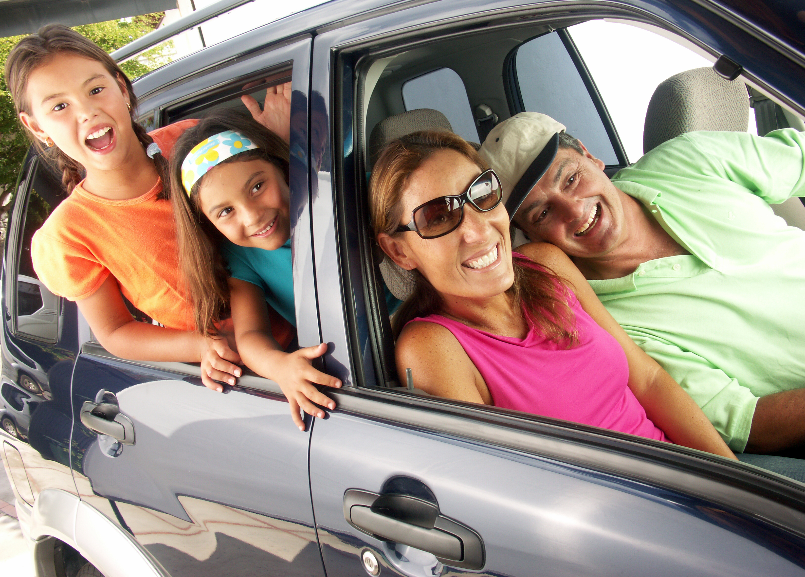 Hispanic Family In A Car Family Tour In A Car Speedcraft Vw