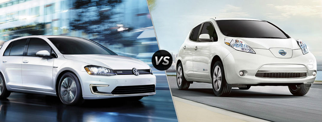 2016 Volkswagen e-Golf vs 2016 Nissan Leaf
