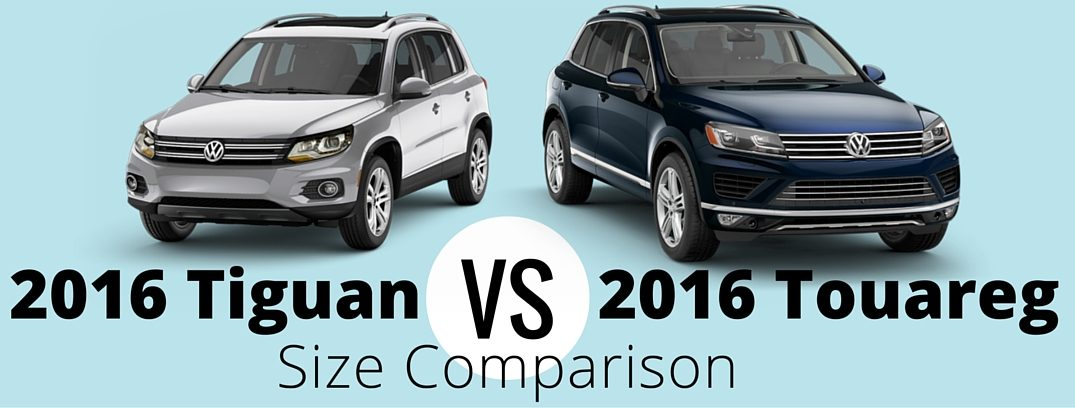 2016 volkswagen tiguan vs 2016 volkswagen touareg size comparison. Black Bedroom Furniture Sets. Home Design Ideas