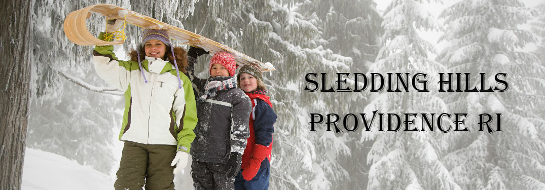 Kids holding a sled