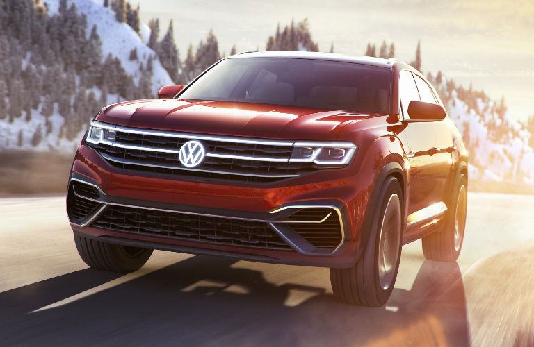 Volkswagen Atlas Cross Sport Concept front in red