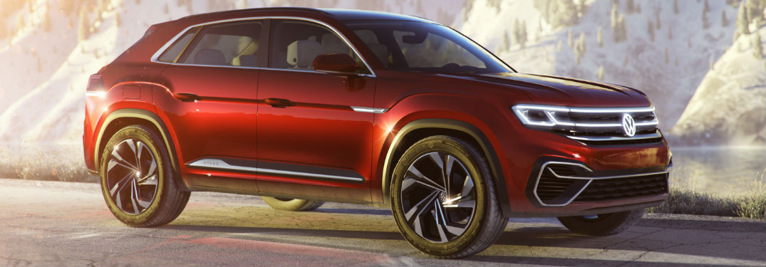 Volkswagen Atlas Cross Sport in red