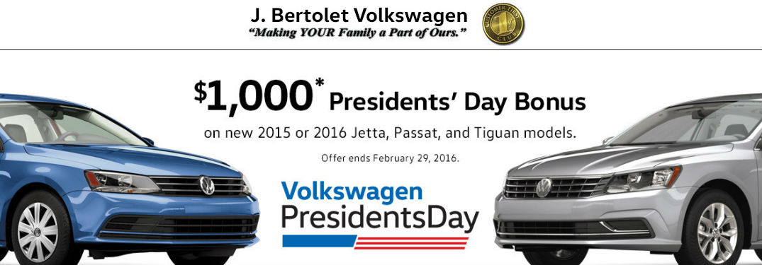 Volkswagen Presidents' Day Sale Allentown PA