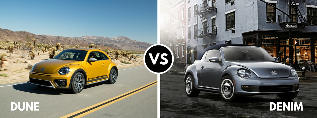 2016 Volkswagen Beetle Denim vs Dune