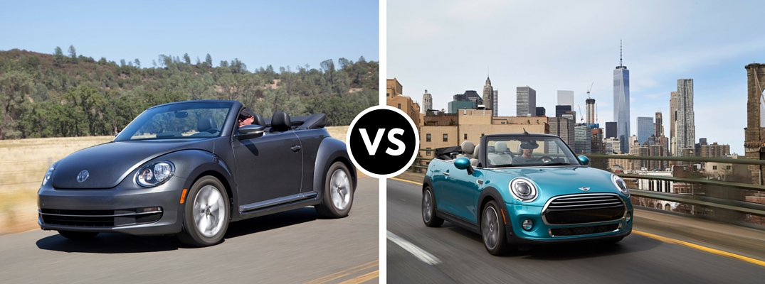 2016 Volkswagen Beetle Convertible vs 2016 MINI Cooper Convertible
