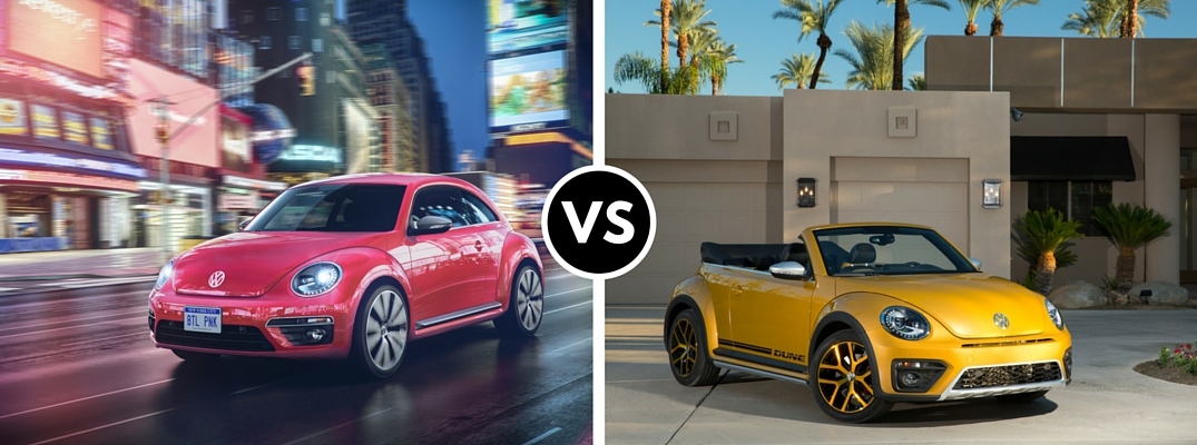 2017 Vw Pink Beetle Vs Dune Convertible