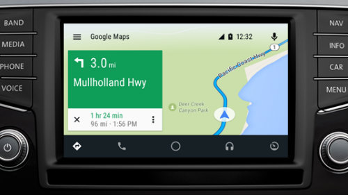 VW Car-Net mapping touchscreen