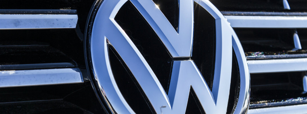 close up of Volkswagen grille logo badge