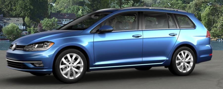2018 Volkswagen Golf SportWagen Silk Blue Metallic