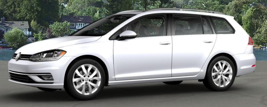 2018 Volkswagen Golf SportWagen White Silver Metallic