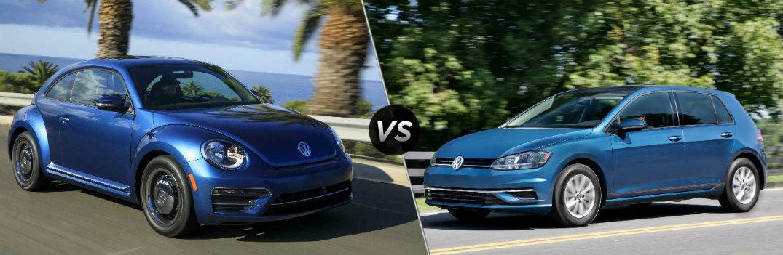 2018 Volkswagen Beetle vs 2018 Volkswagen Golf