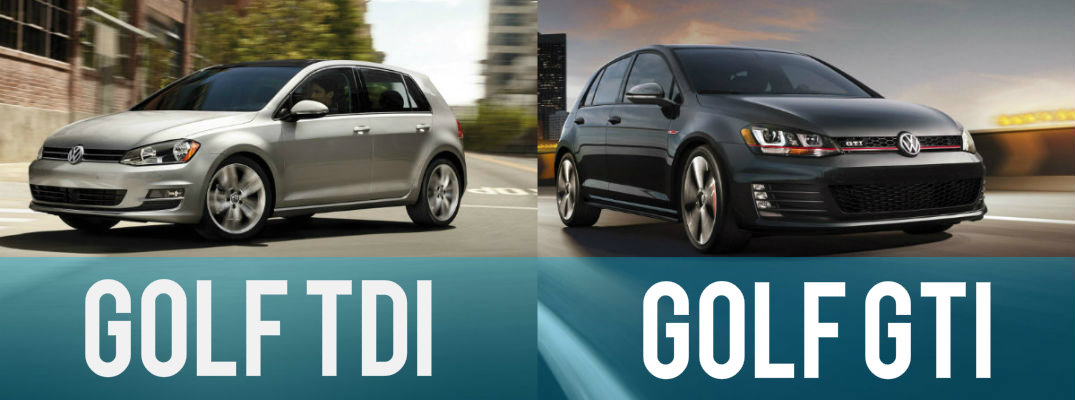 difference between 2015 volkswagen golf tdi vs golf gti. Black Bedroom Furniture Sets. Home Design Ideas