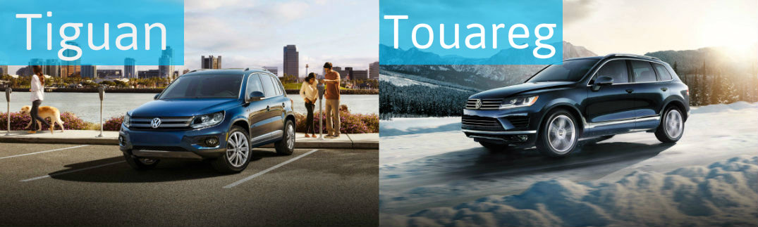 Choose Your Next SUV by Examining the Differences Between the 2015 VW Tiguan vs 2015 VW Touareg