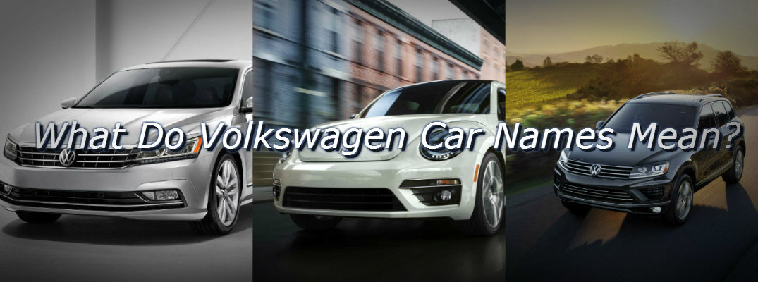 How Does Volkswagen Name Its Cars