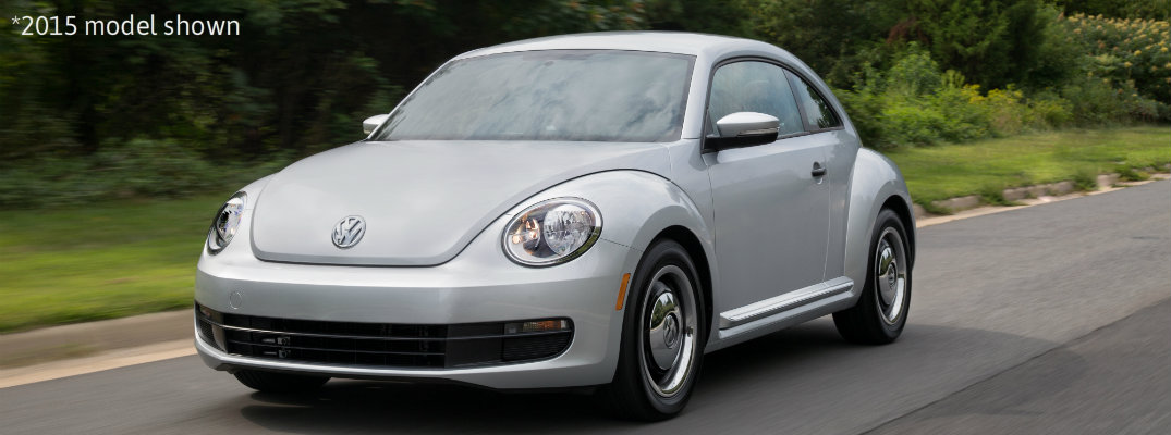 2015 vw beetle classic in silver paint color