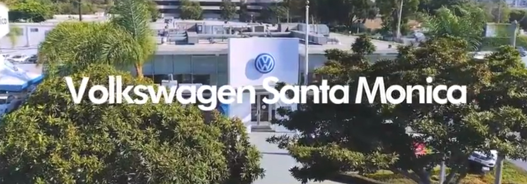 Volkswagen of Santa Monica Title and Overhead Shot of the Dealership
