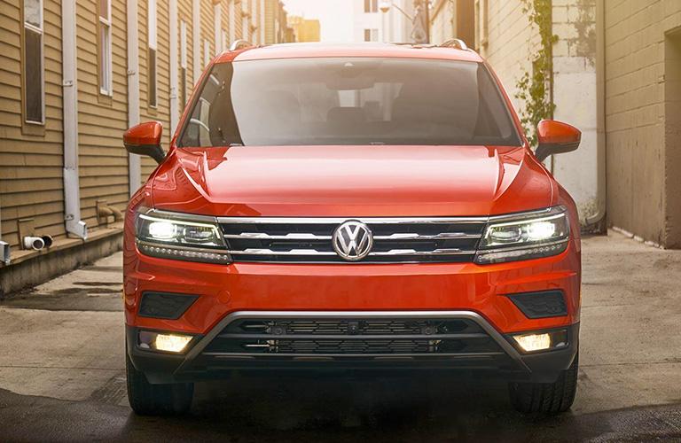 Front View of Orange 2018 VW Tiguan