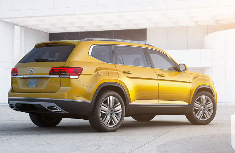 Side View of Yellow 2018 VW Atlas