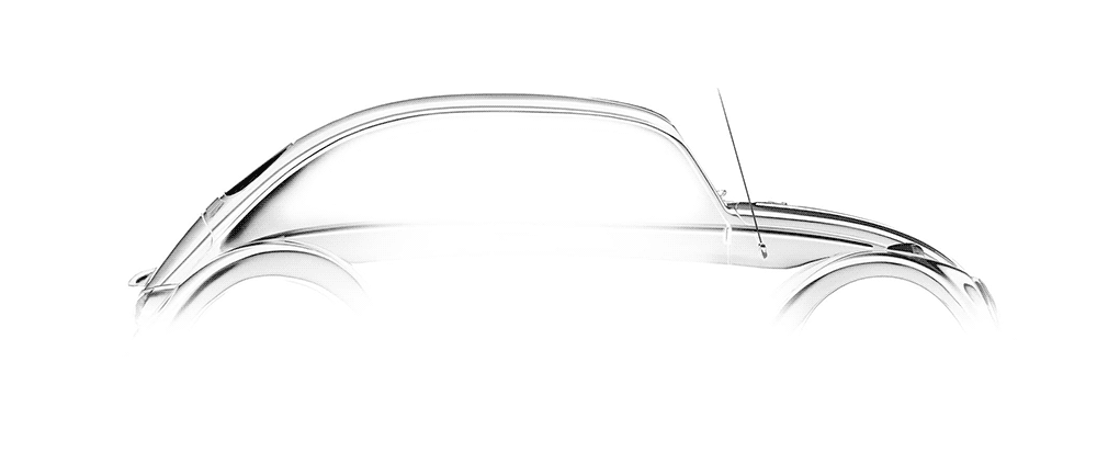 Volkswagen Beetle outline