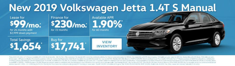 Description of 2019 VW Jetta Specials and Black 2019 VW Jetta