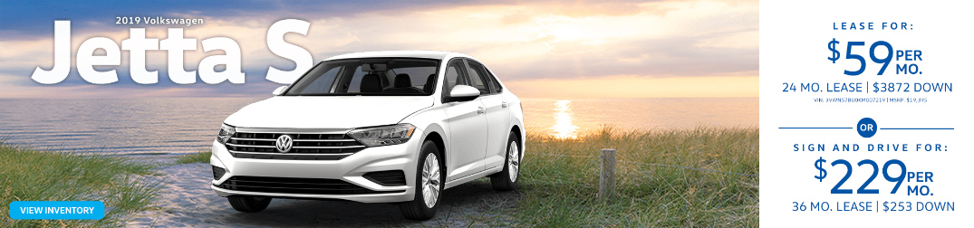 White 2019 VW Jetta and Descriptions of VW Jetta Lease Specials