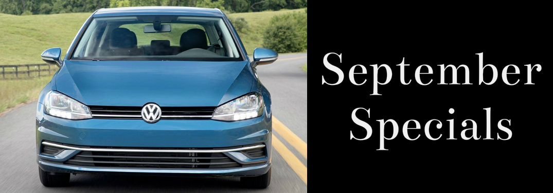 September Specials Title and Blue 2018 VW Golf