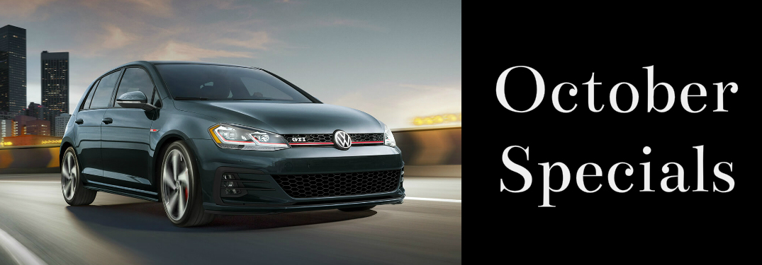 October Specials Title and Black 2018 VW Golf GTI