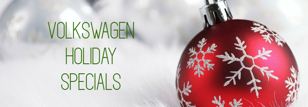 Volkswagen Holiday Specials title and a red Christmas ornament