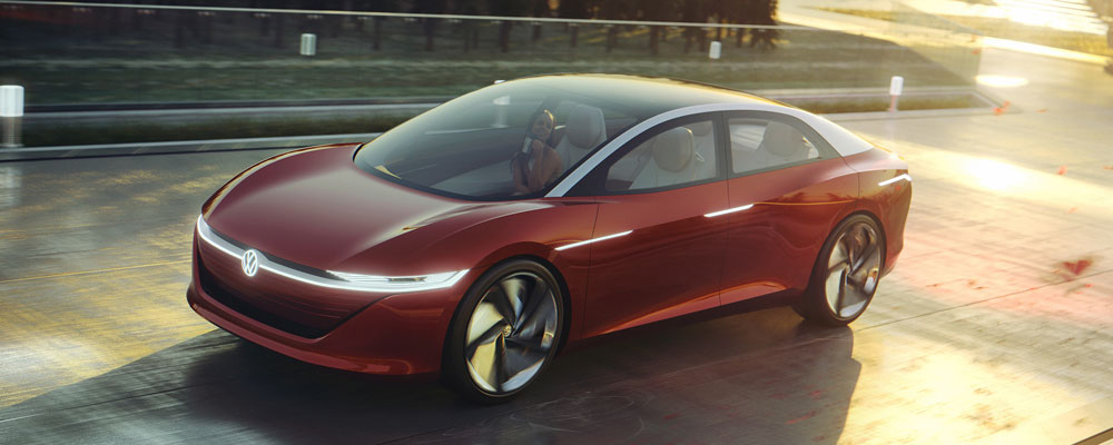The Volkswagen I.D. Vizzion Electric Concept