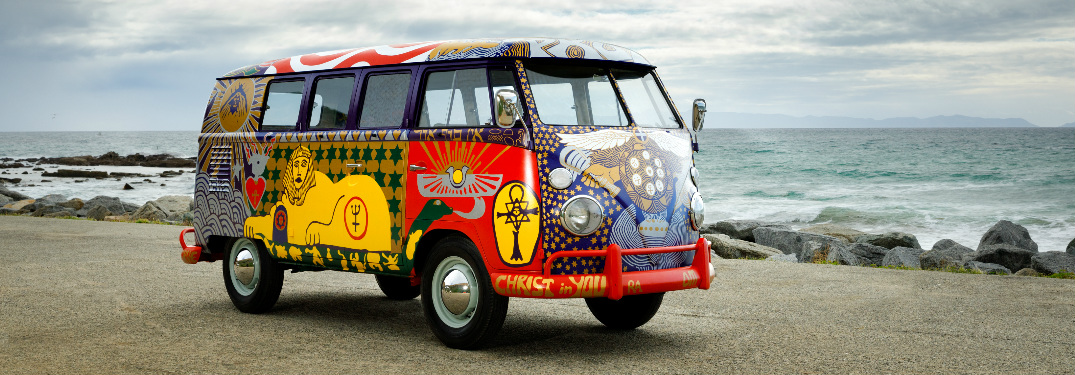 Volkswagen Light Bus parked near the ocean