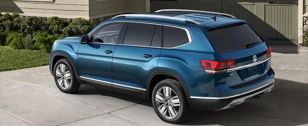 Blue 2019 VW Atlas SEL Premium with 4MOTION AWD