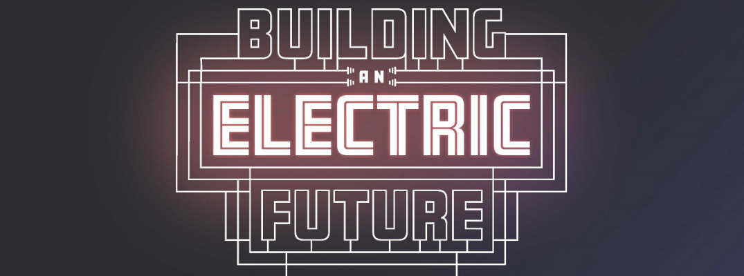 Building an Electric Future logo for a Volkswagen exhibit at the Peterson Automotive Museum