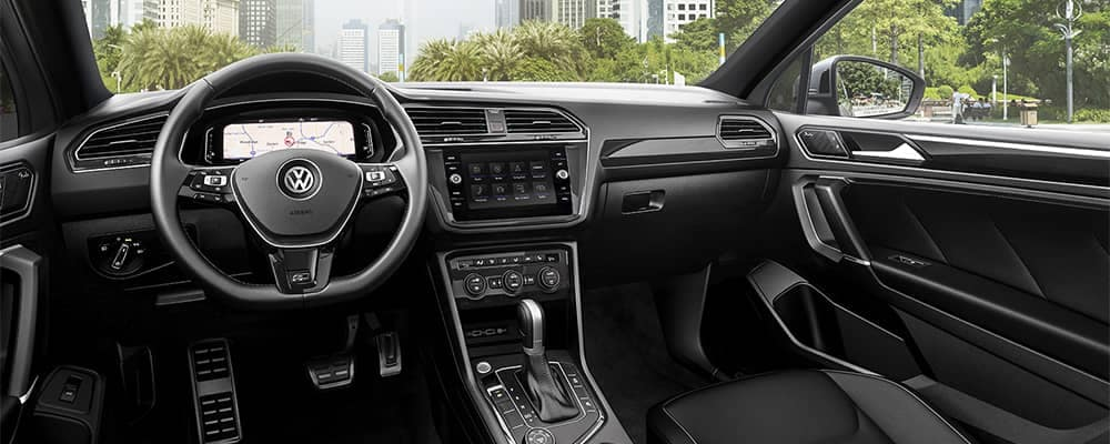 Interior of VW Tiguan from front seat