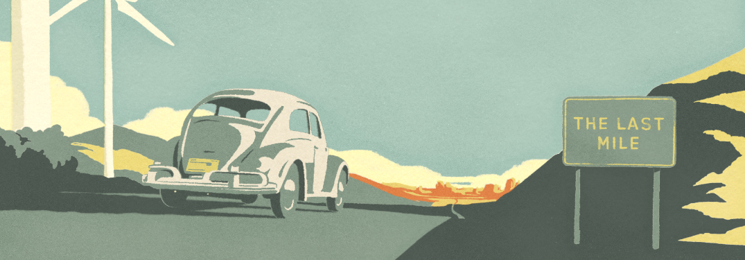 Image of the Volkswagen Beetle in the Last Mile animated short film