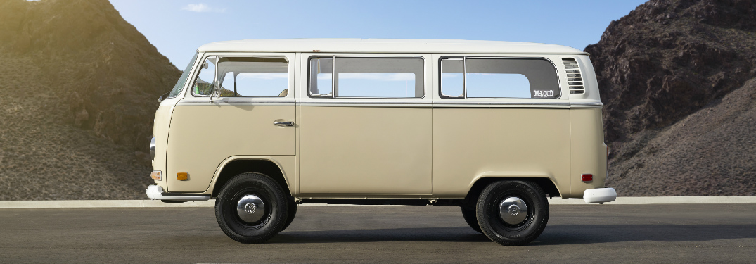 Side view of electrified 1972 VW Type 2 Bus_o